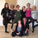 Fejrer de nye yogalærere